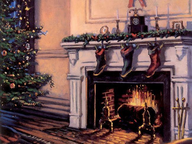 001 Vánoční pohledy pohlednice Christmas