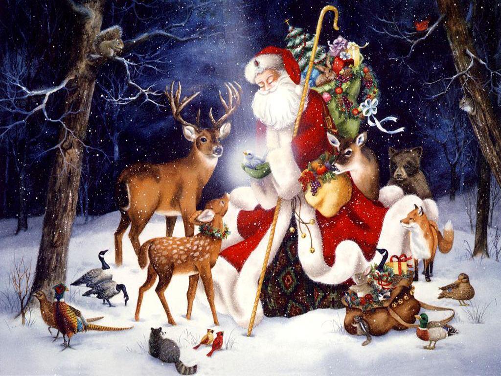 002 vánoční krajina - Christmas landscape