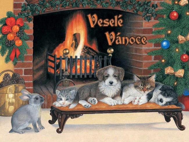003 Vánoční pohledy pohlednice Christmas