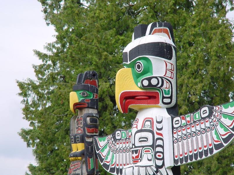003 indiánské motivy obrázky totem - Indián