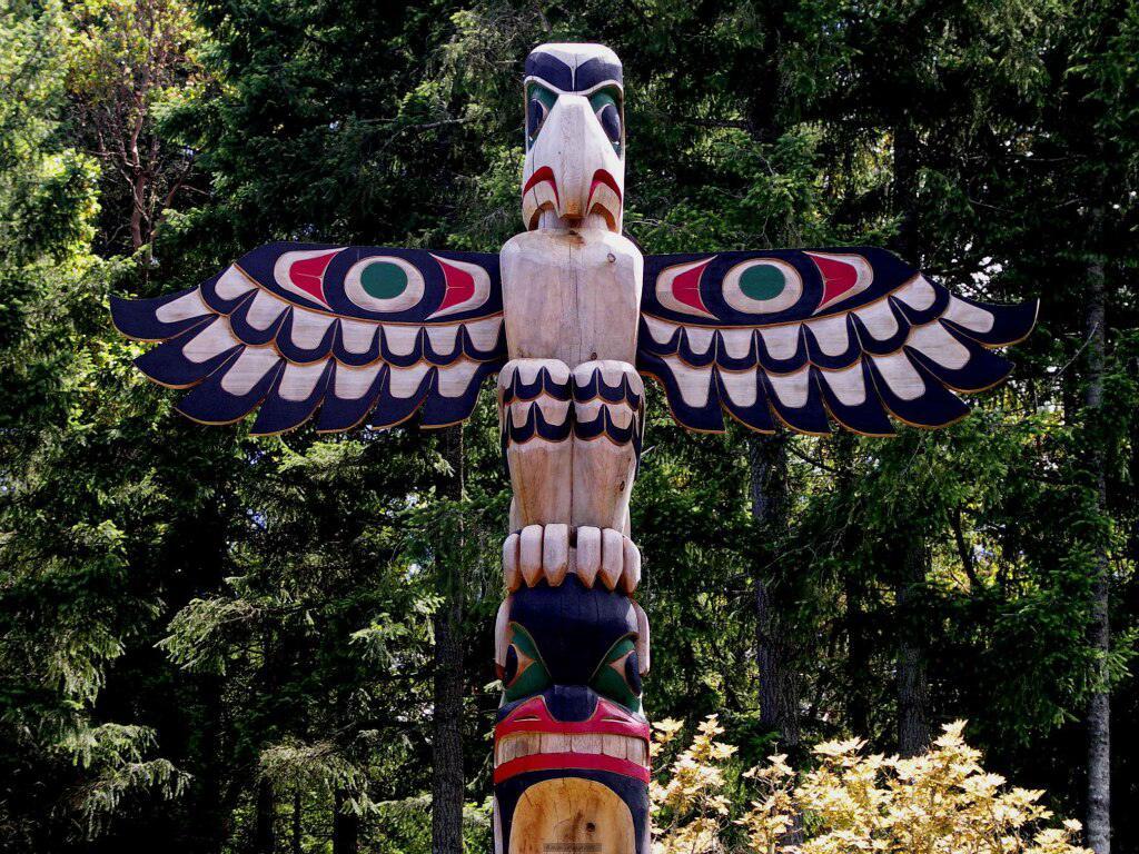 004 indiánské motivy obrázky totem - Indián