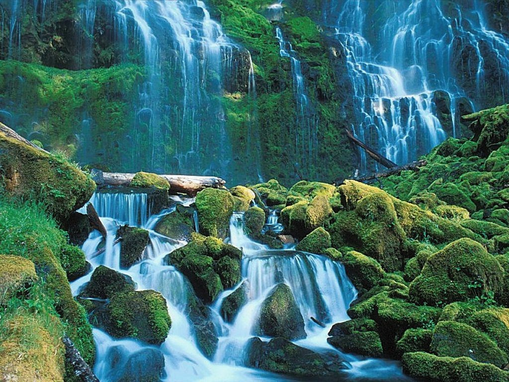 004 vodopády - waterfalls - příroda - nature