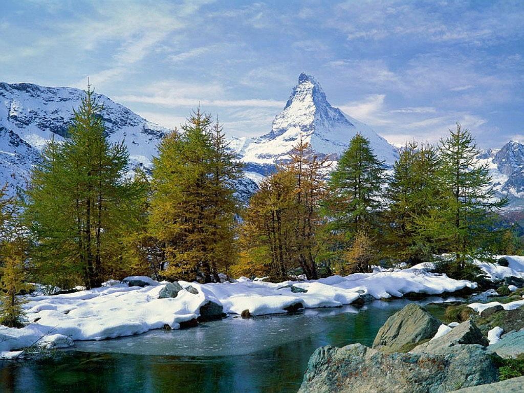 004 zimní krajina - winter landscape