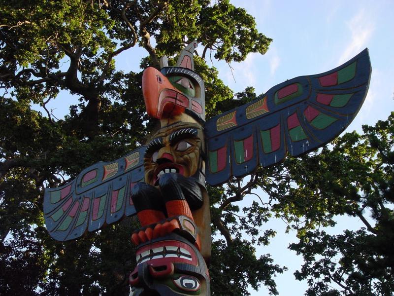 005 indiánské motivy obrázky totem - Indián
