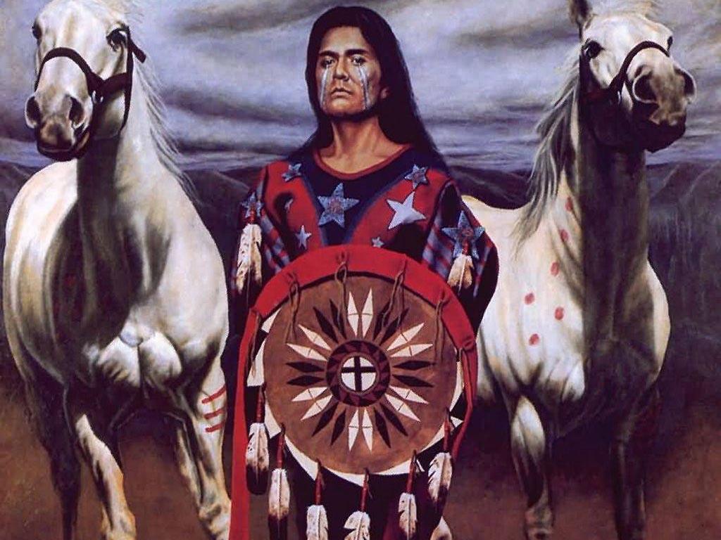 006 indiánské motivy obrázky - Indián