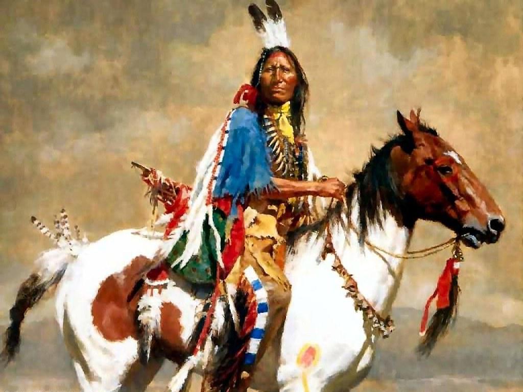 007 indiánské motivy obrázky - Indián
