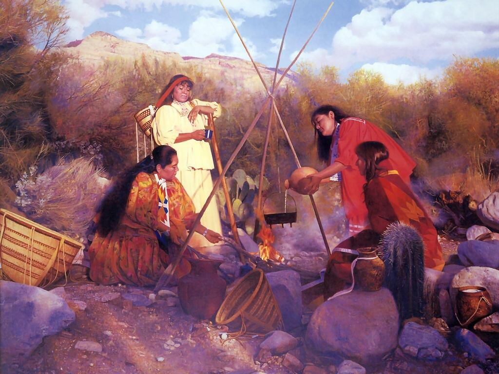 008 indiánské motivy obrázky - Indián