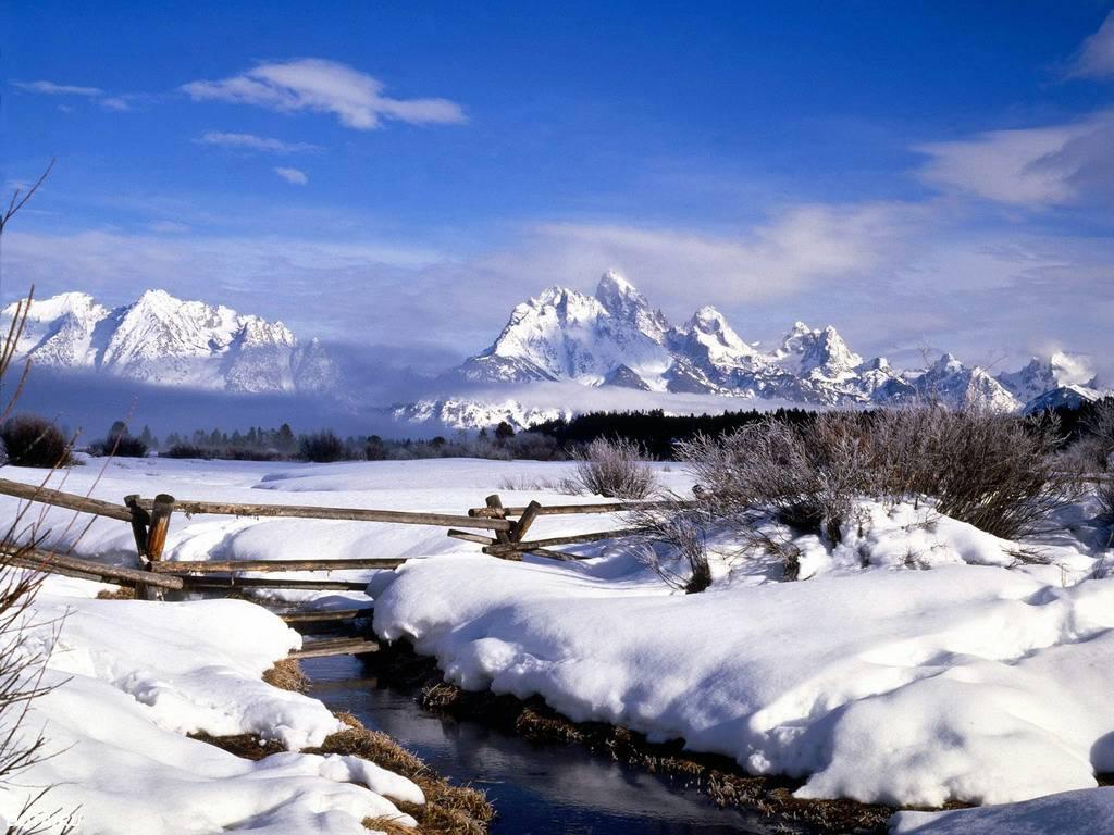 009 zimní krajina - winter landscape