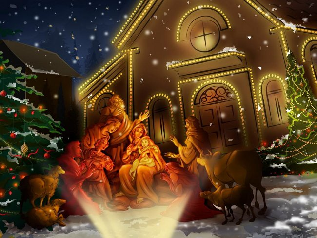 012 Vánoční pohledy pohlednice Christmas