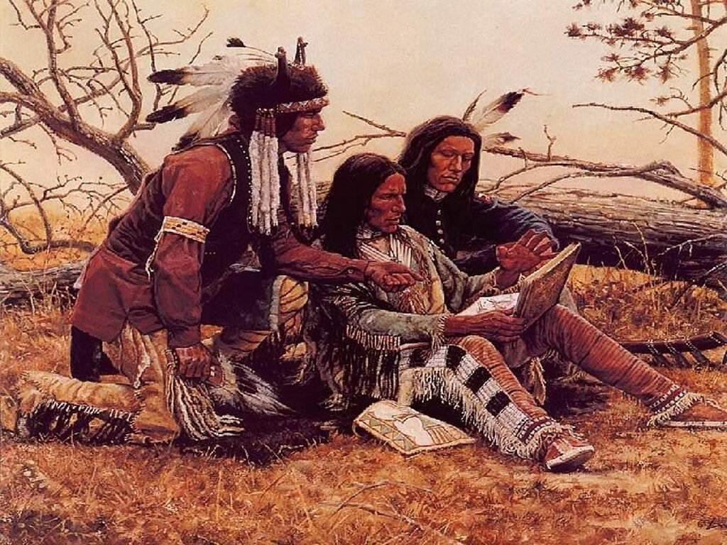 012 indiánské motivy obrázky - Indián