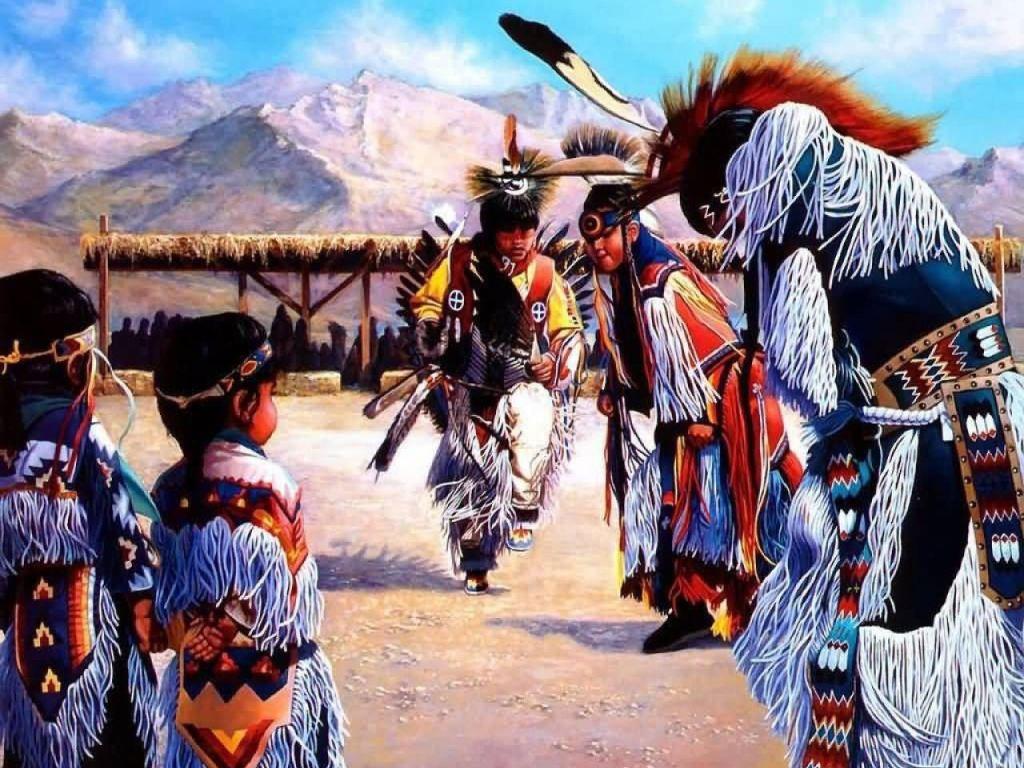 013 indiánské motivy obrázky - Indián