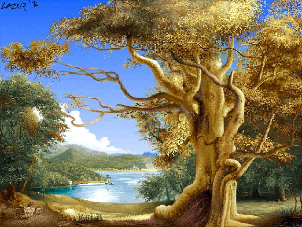 013 krajina - příroda - zajímavý strom - nature