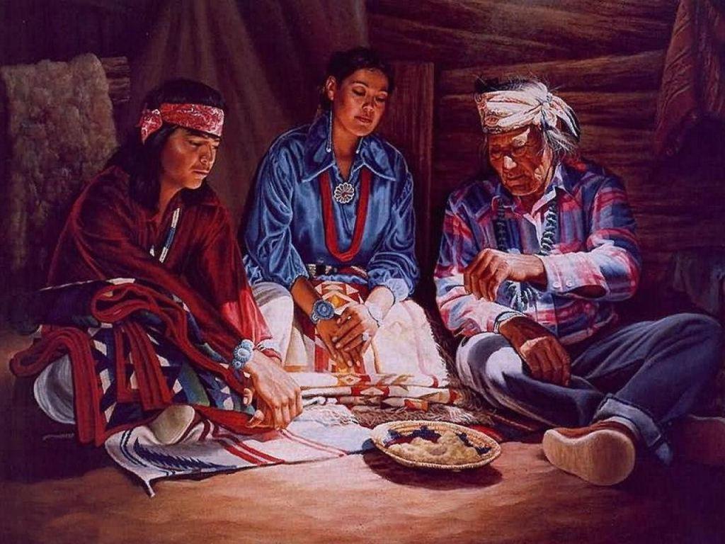 014 indiánské motivy obrázky - Indián