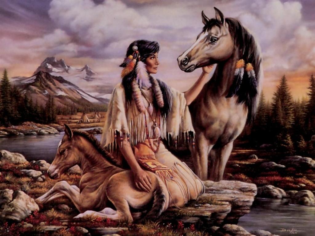 015 indiánské motivy obrázky - Indián