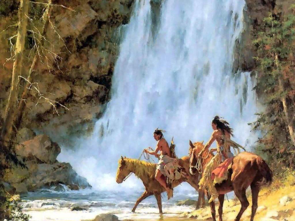 018 indiánské motivy obrázky - Indián