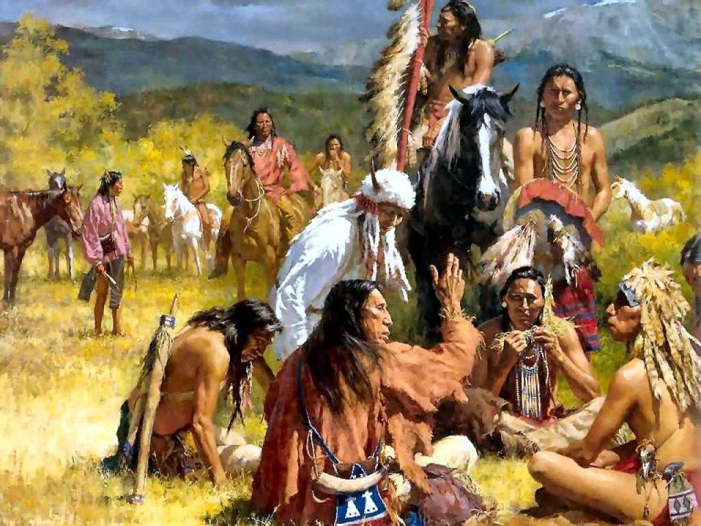 019 indiánské motivy obrázky - Indián
