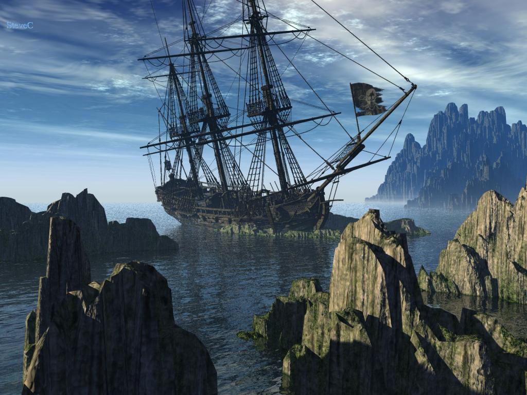 019 lodě - pirátská loď