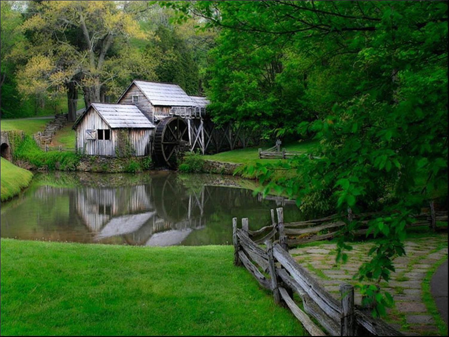 027 staré chalupy - farmy - mlýny