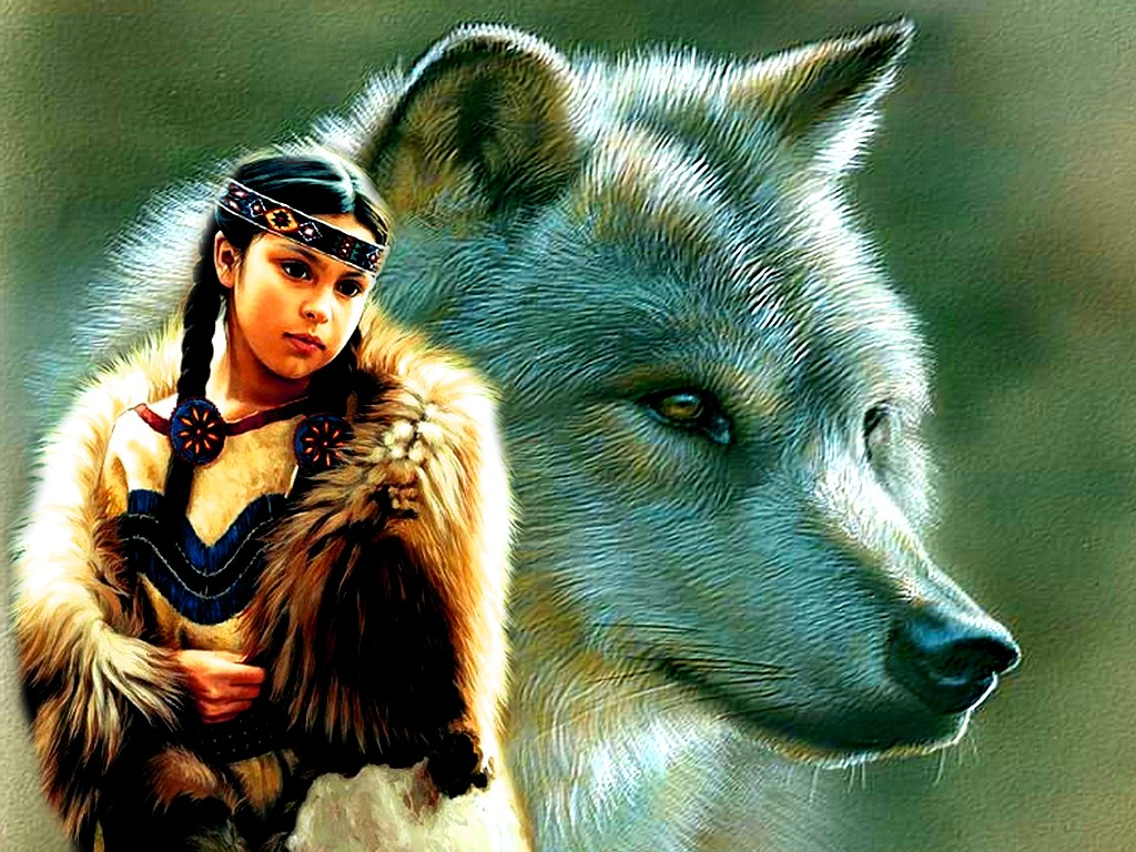 028 indiánské motivy obrázky - Indián
