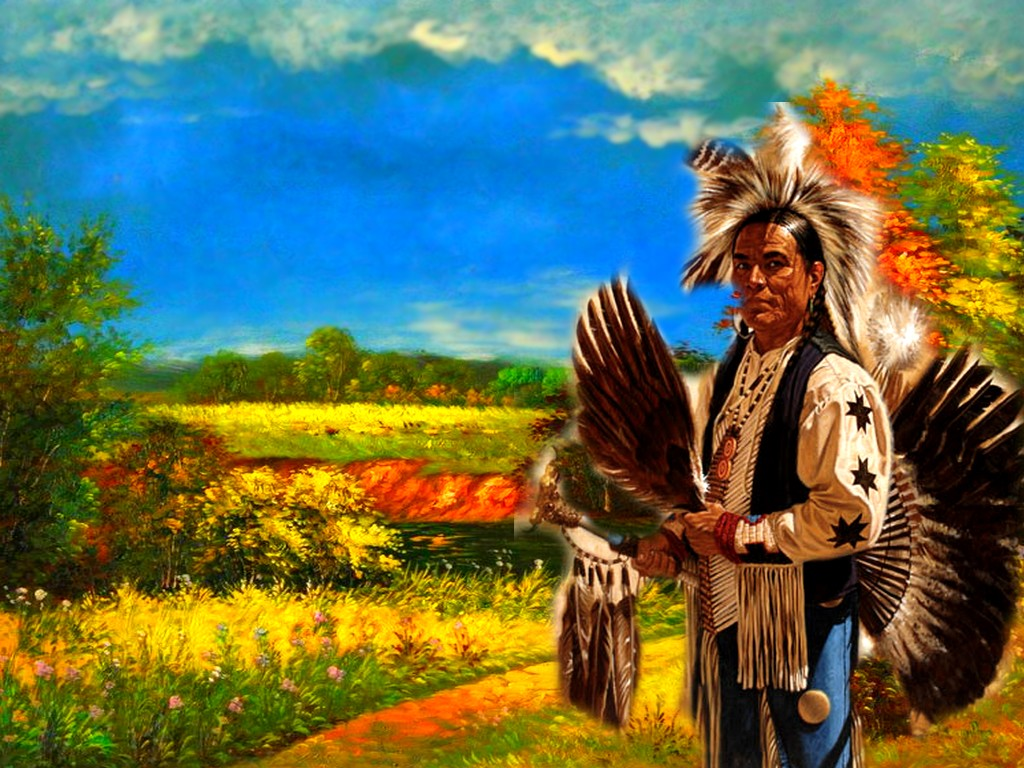 029 indiánské motivy obrázky - Indián