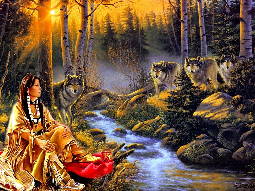 030 indiánské motivy obrázky - Indián