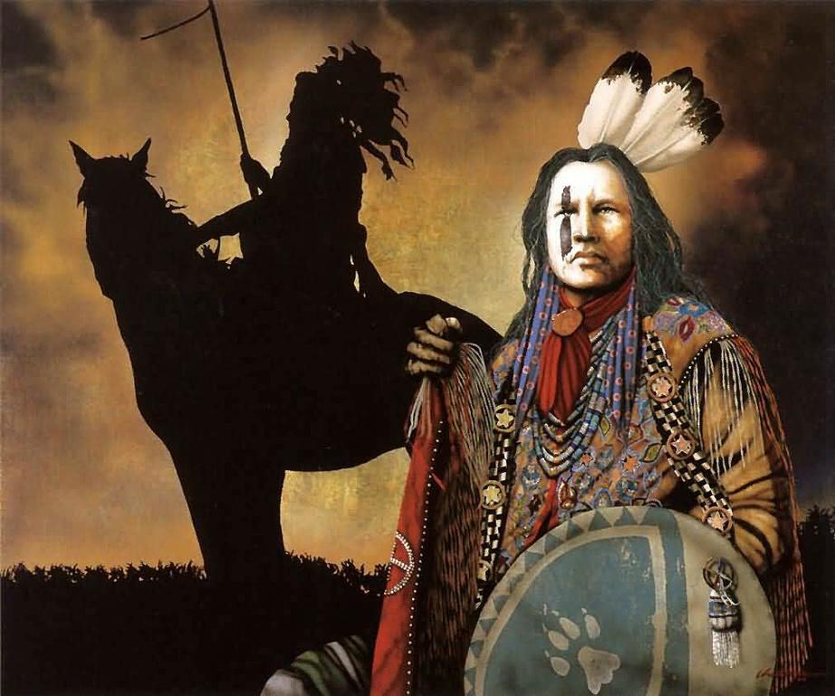 032 indiánské motivy obrázky - Indián