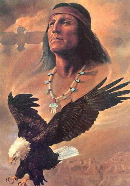033 indiánské motivy obrázky - Indián