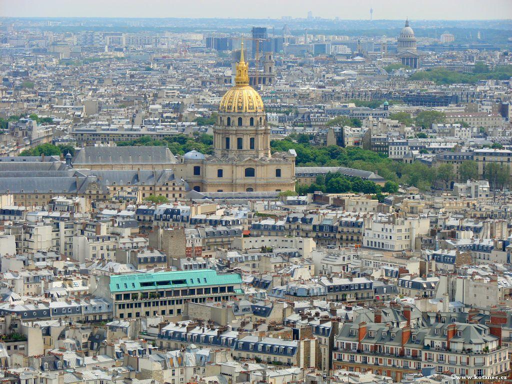 034 Paris - pohled z Eiffel tower - Paříž