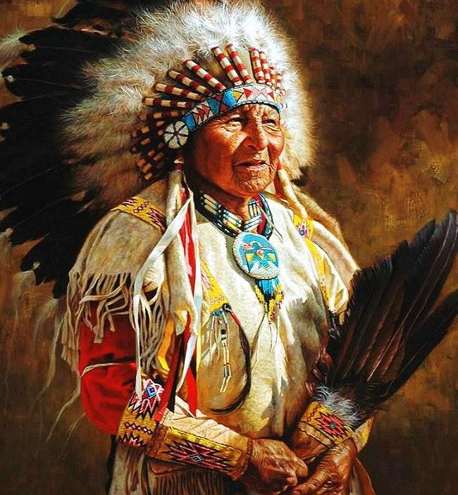 034 indiánské motivy obrázky - Indián