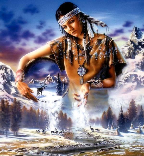 036 indiánské motivy obrázky - Indián