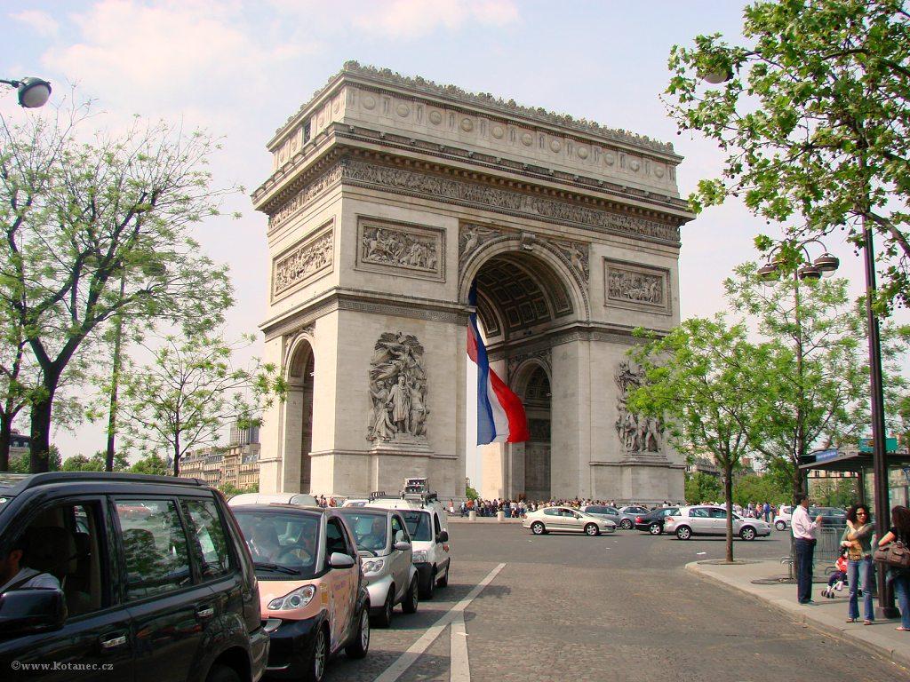 038 Paris - Arc de Triomphe - Paříž