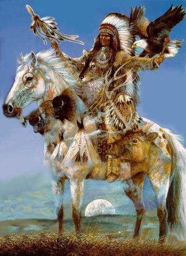 038 indiánské motivy obrázky - Indián