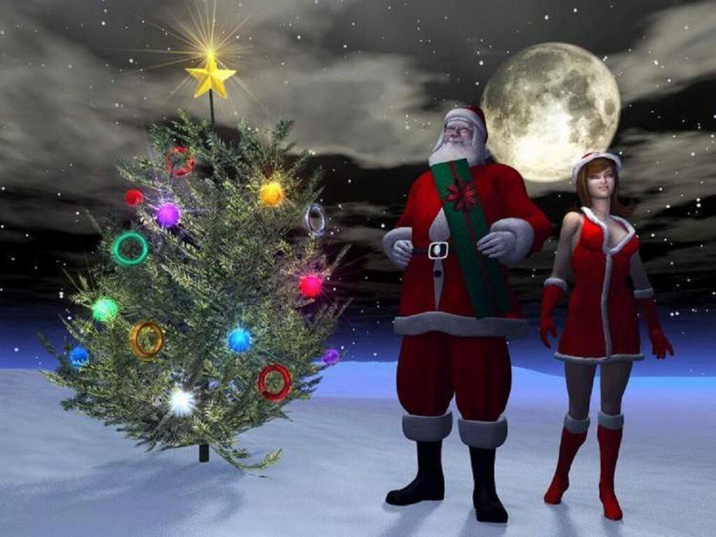 040 vánoční krajina - Christmas landscape