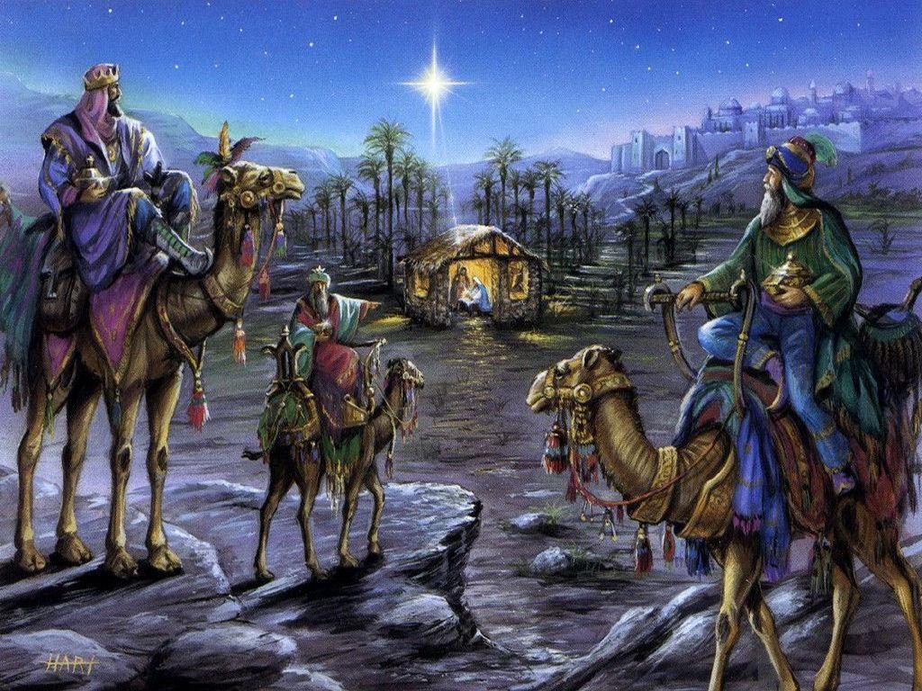 041 vánoční krajina - Christmas landscape