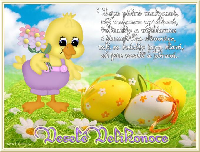045 velikonoční přání