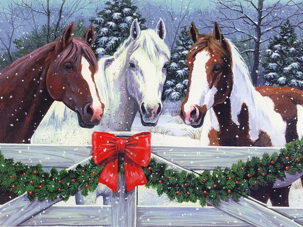 047 vánoční krajina - Christmas landscape