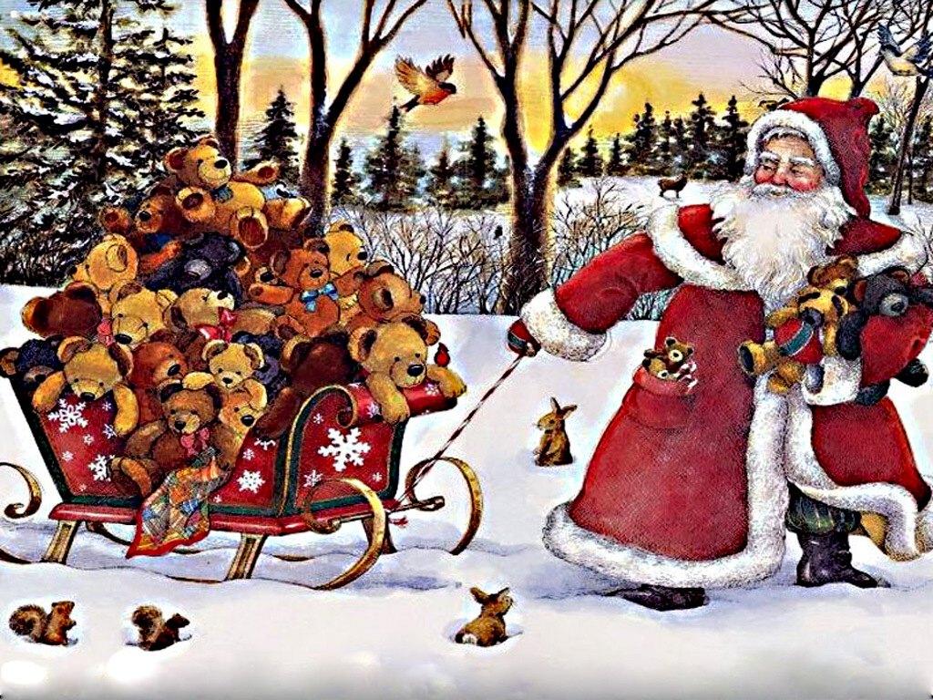 050 vánoční krajina - Christmas landscape
