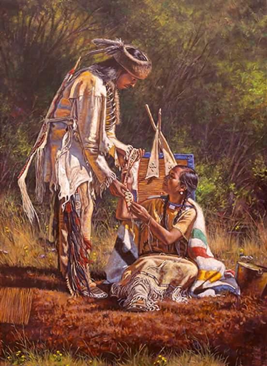 053 indiánské motivy obrázky - Indián