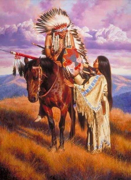 054 indiánské motivy obrázky - Indián
