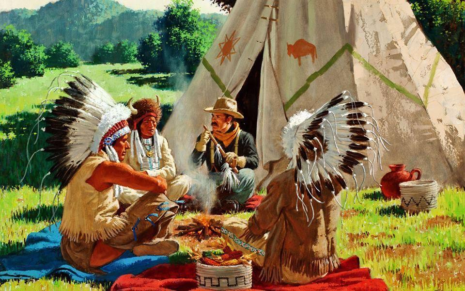 055 indiánské motivy obrázky - Indián