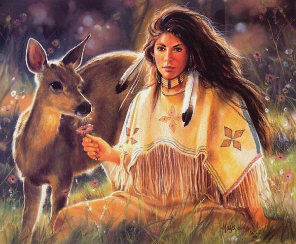 057 indiánské motivy obrázky - Indián