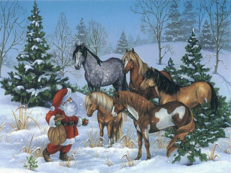 059 vánoční krajina - Christmas landscape