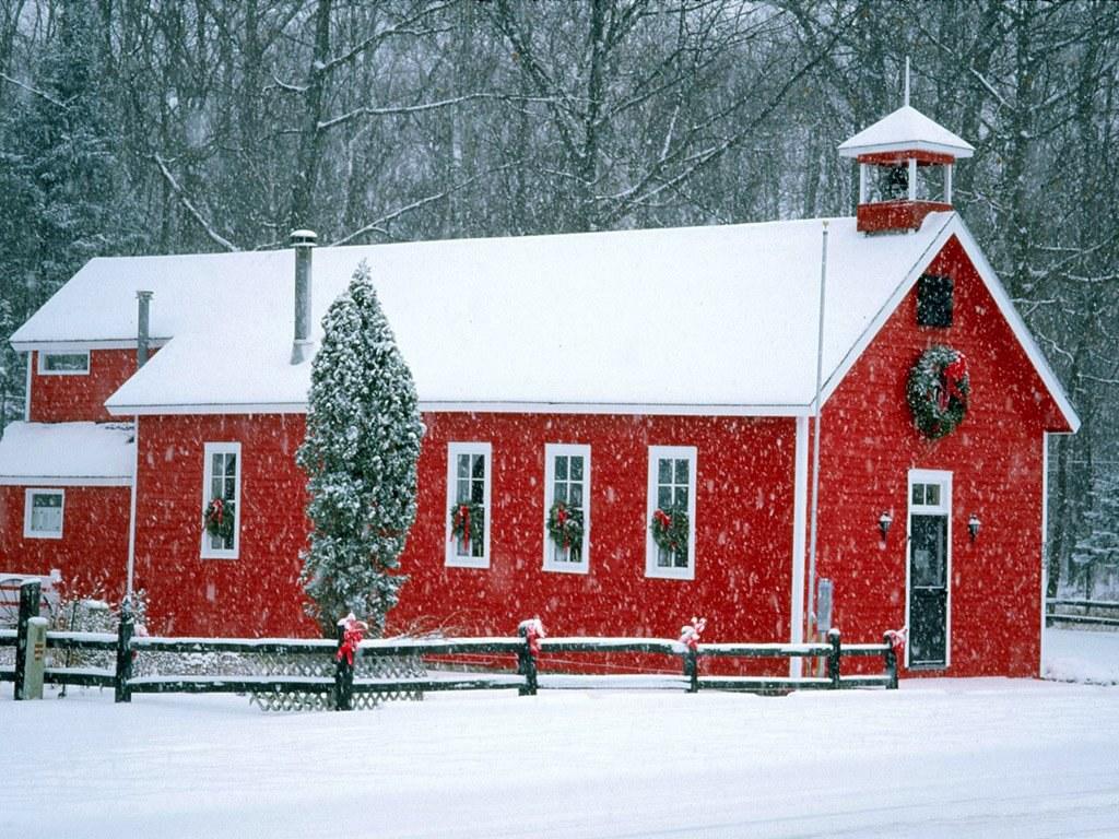 063 vánoční krajina - Christmas landscape