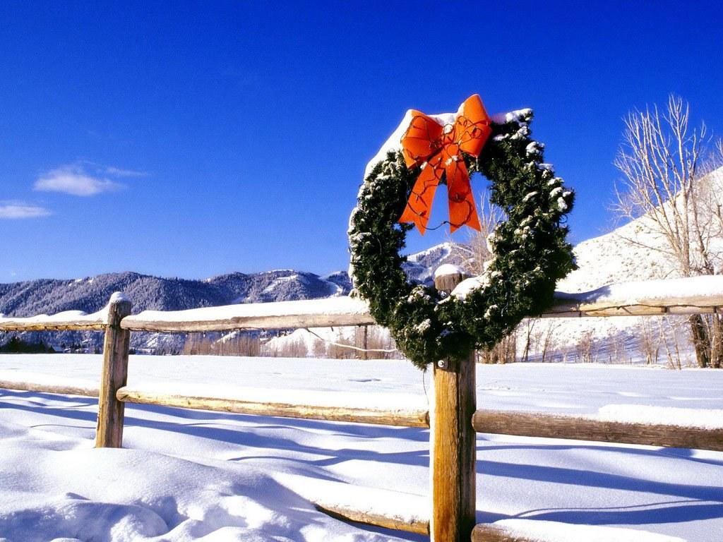 065 vánoční krajina - Christmas landscape