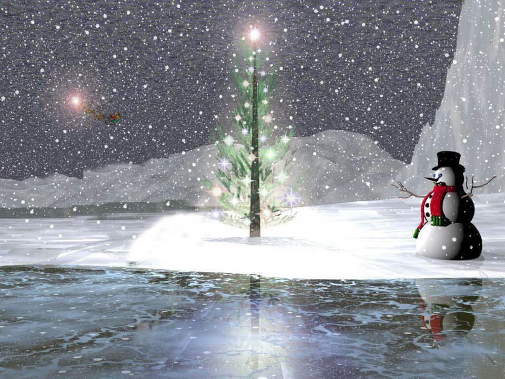 070 vánoční krajina - Christmas landscape