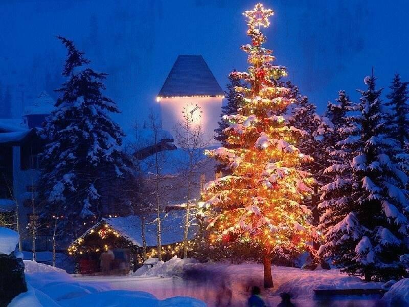 071 vánoční krajina - Christmas landscape