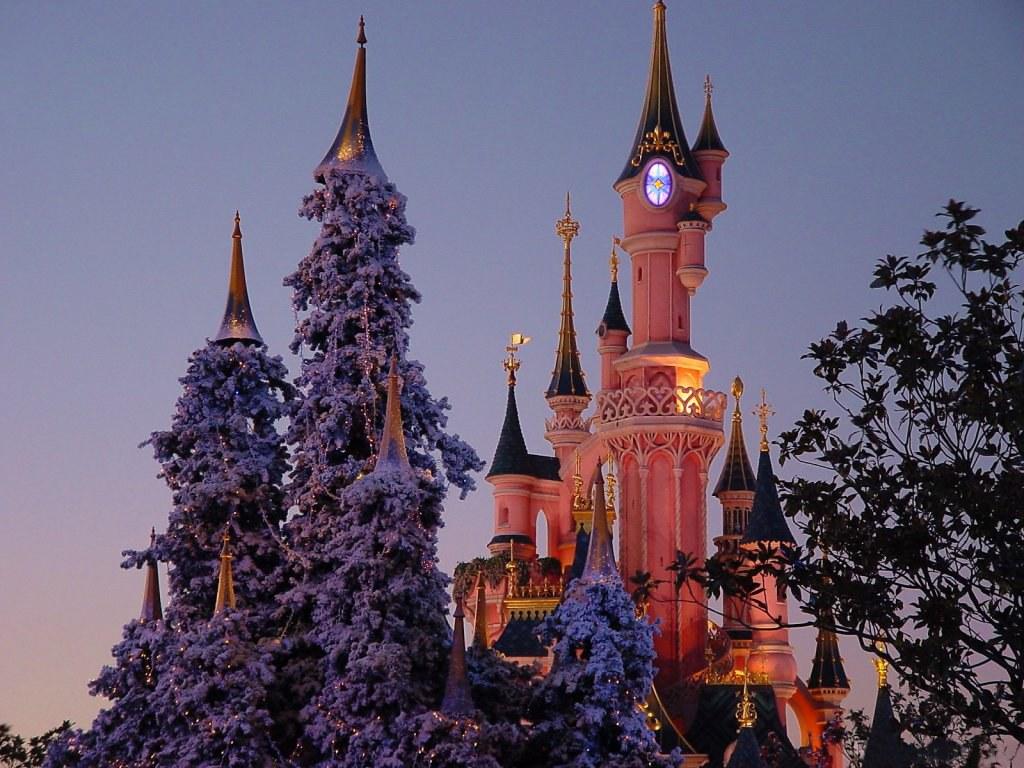 075 vánoční krajina - Christmas landscape
