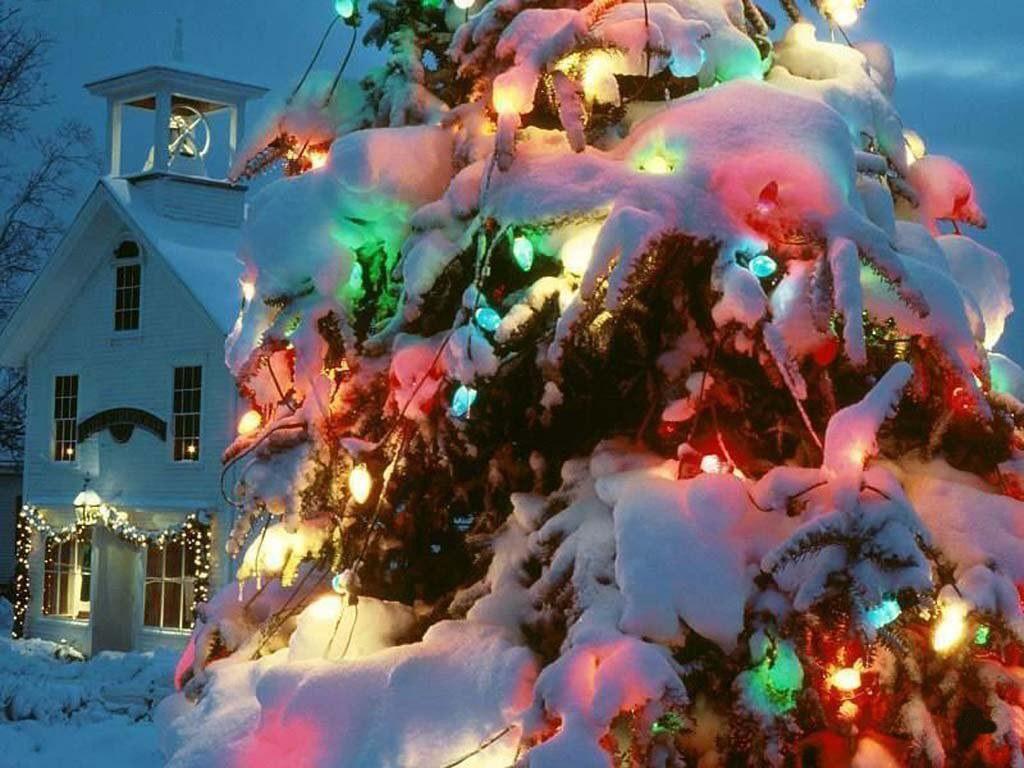 078 vánoční krajina - Christmas landscape