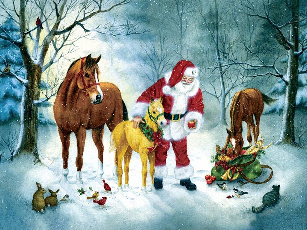079 vánoční krajina - Christmas landscape