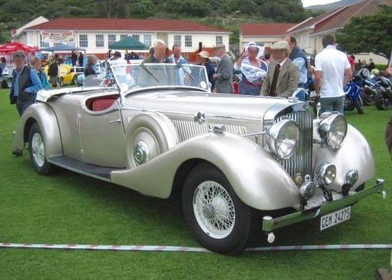 34 - 1939 Jensen Contiental H Series Silver Tourer